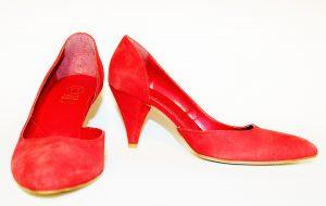 scarpe-d'orsay, rosse