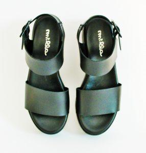 sandali, milla, fascia-nera