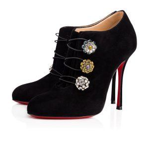 Ankle boots con bottoni di cristallo 995