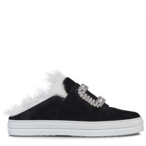 Sneaker sabot con pelliccia 1400