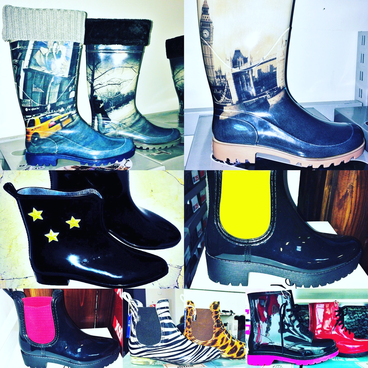 Stivali di gomma per la pioggia