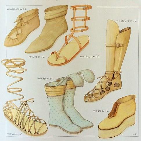 Le scarpe ai tempi della Grecia Antica