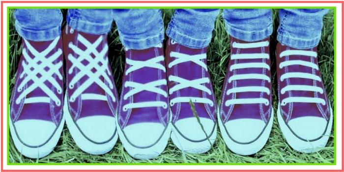 Diversi modi per allacciarsi le scarpe