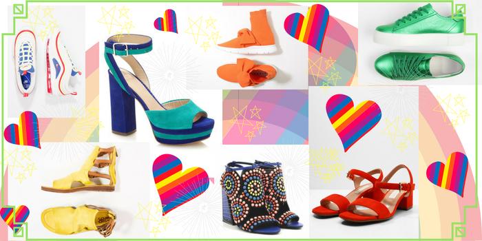 Scarpe colorate: la cromoterapia ai tuoi piedi
