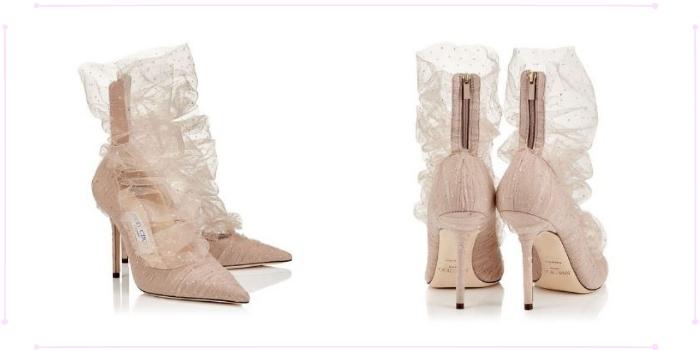 Le scarpe con i Tulle Socks incorporati di Jimmy Choo