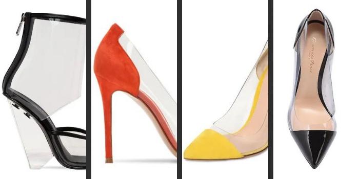 Le scarpe trasparenti come quelle di Cenerentola