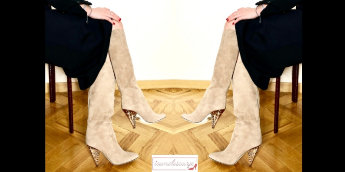 Tacco a cono: gli stivali Lyra di Tamara Mellon