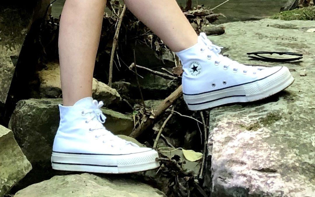 soletta scarpe rialzata converse