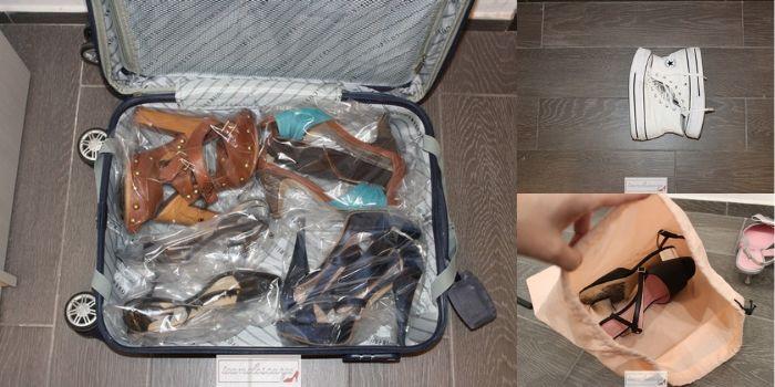 Come sistemare le scarpe in valigia