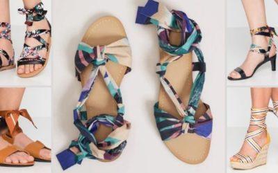 Sandali con fascia colorata: il passepartout per l'estate
