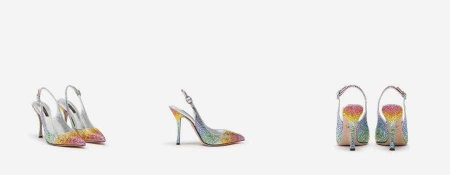 Dolce-e-Gabbana-SLING BACK IN RASO E CRISTALLI