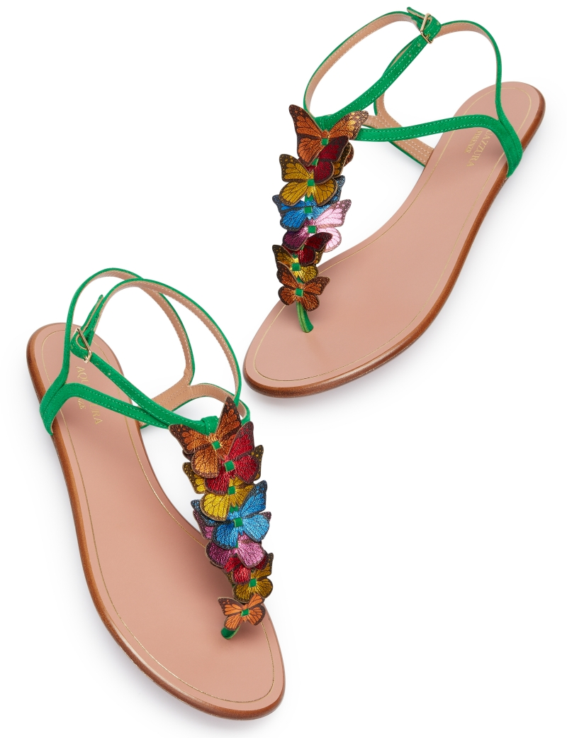 Aquazzura-Papillon-sandal-flat-Jungle-green-Suede-leather-PPLFLAS0-SNL-JGR-Left