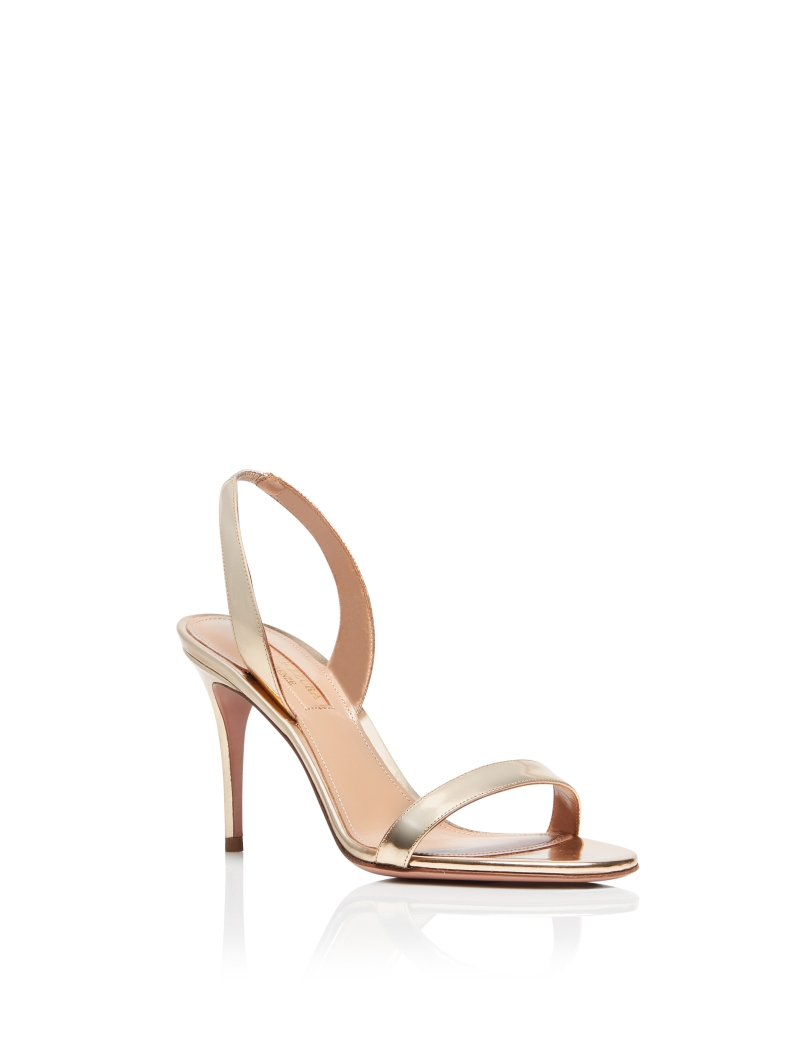 Aquazzura-So-nude-sandal-85-Soft-gold-Mirrored-leather-SNUMIDS0-SPE-SOG-Front